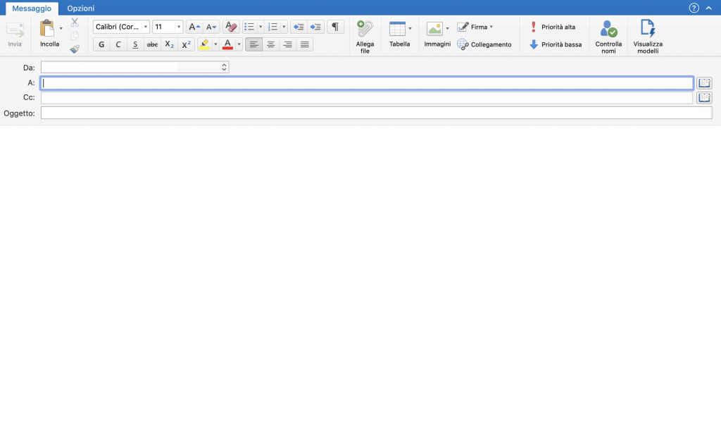 outlook-scrivere-e-iniviare-email